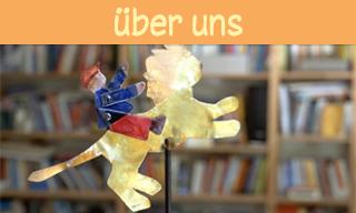 Bild, des Vereinslogos, vereinfachte Zeichnung eines Kindes, das auf einem Löwen reitet. Link zur Vereinsdarstellung